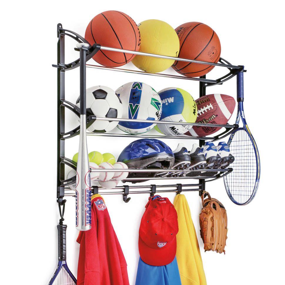Sports Equipment Organizer For Garage  Lynk Wall Mounted Sports Rack