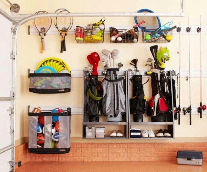 Sports Equipment Organizer For Garage  Golf Bag & sports equipment storage