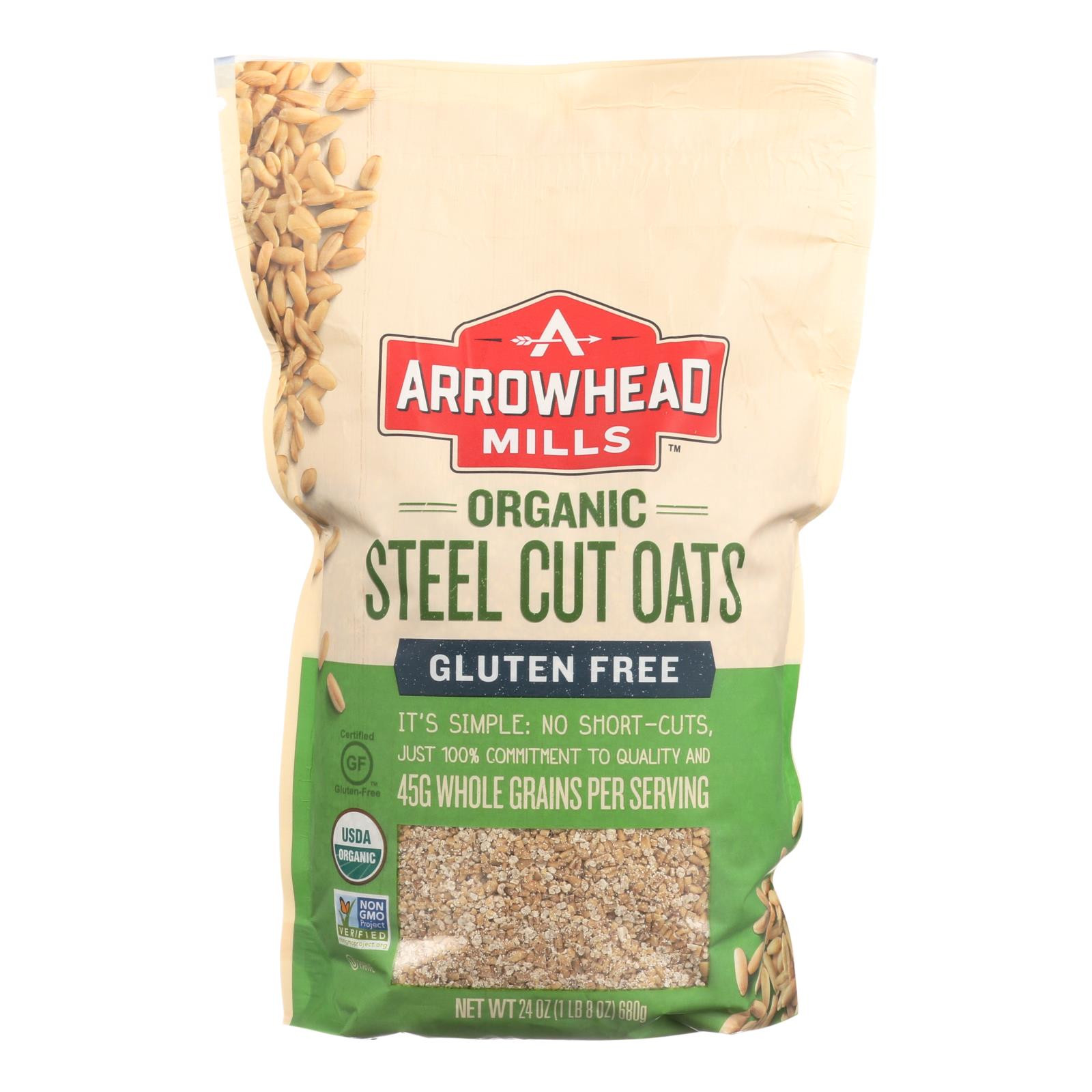 Steel Cut Oats Gluten  Arrowhead Mills Oats Steel Cut Gluten Free Case