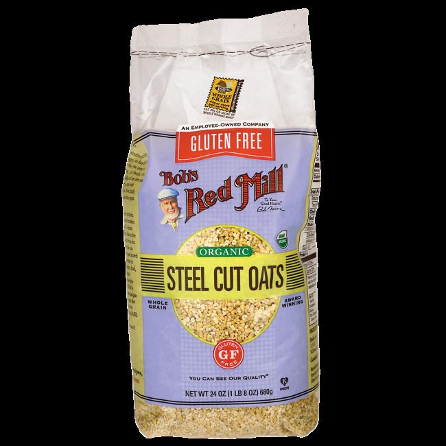 Steel Cut Oats Gluten  Bob s Red Mill Organic Steel Cut Oats 24 oz 680 g Pkg