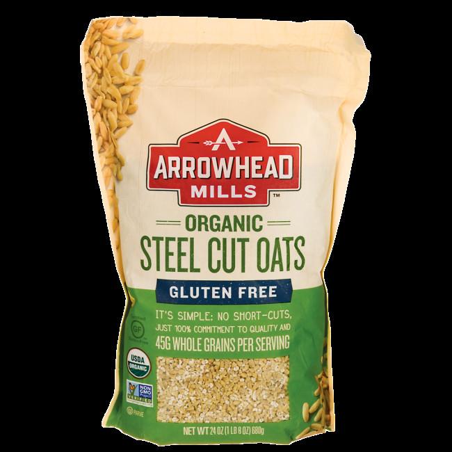 Steel Cut Oats Gluten  Arrowhead Mills Organic Steel Cut Oats Gluten Free 24 oz