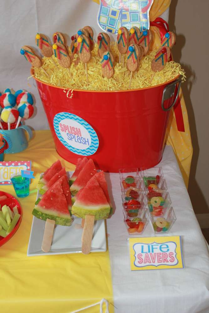 Summer Water Party Ideas  Water Party Summer Party Ideas 9 of 44