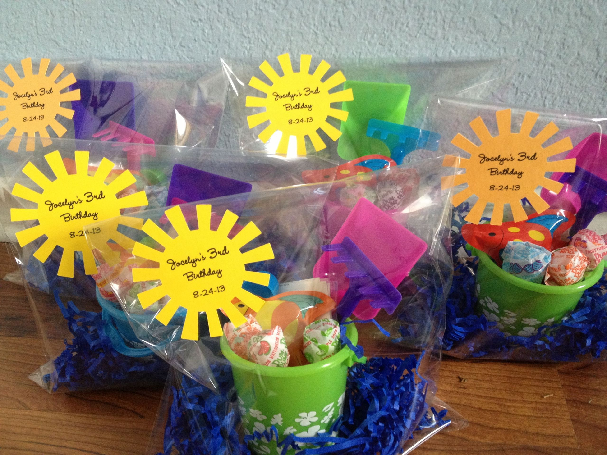Summer Water Party Ideas  Beach bucket party favors for summer birthdays water