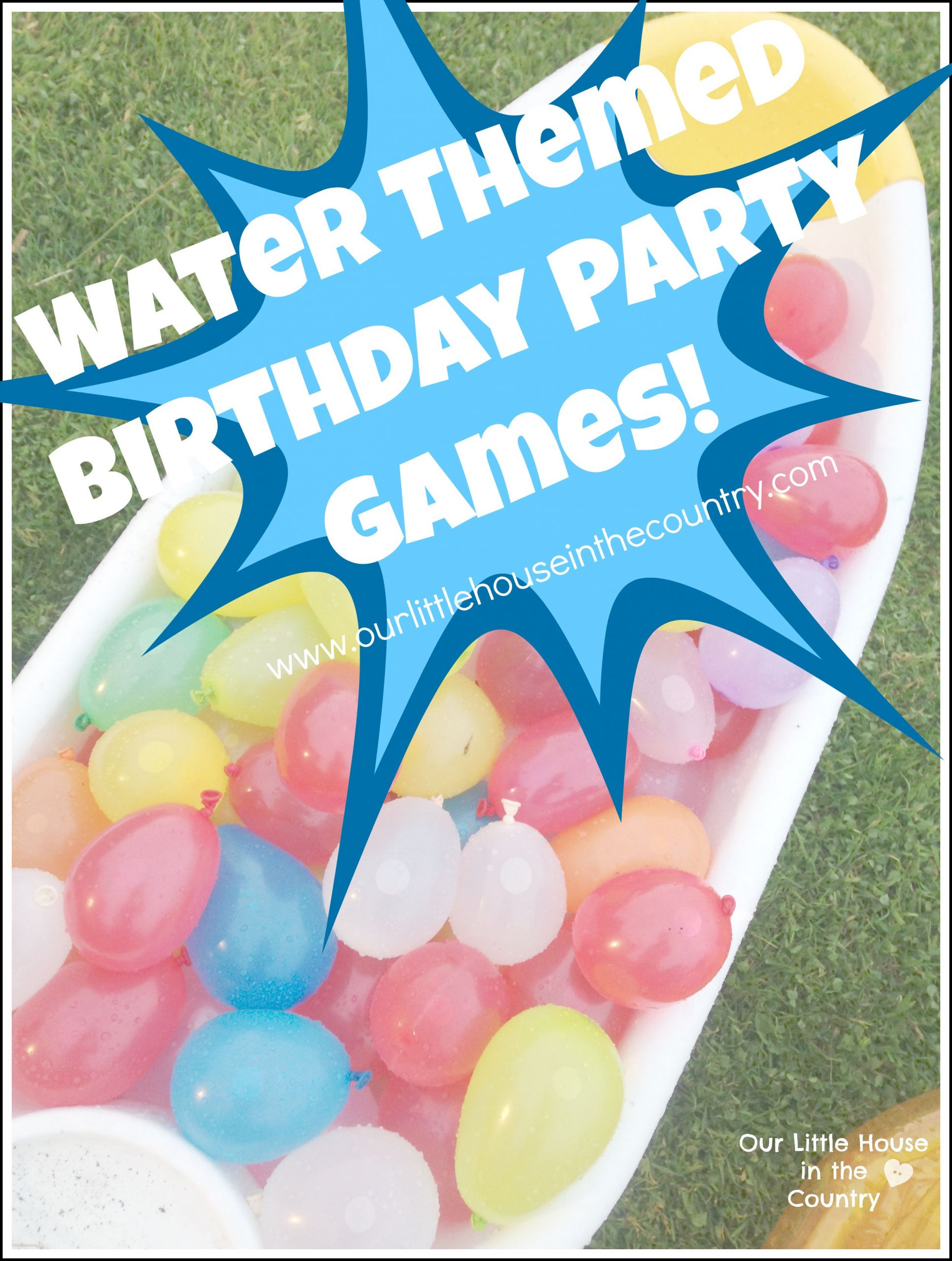 Summer Water Party Ideas  Water Themed Birthday Party Games