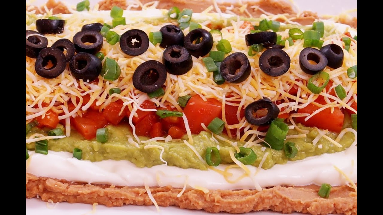 Super Bowl Mexican Recipes  7 Layer Dip Recipe Mexican Bean Easy Super Bowl How to