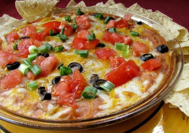 Super Bowl Mexican Recipes  Super Bowl Foods Mexican Mess Bean Dip