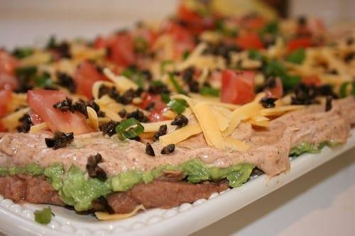 Super Bowl Mexican Recipes  7 Layer Mexican Dip Super Bowl Recipe 3 Points