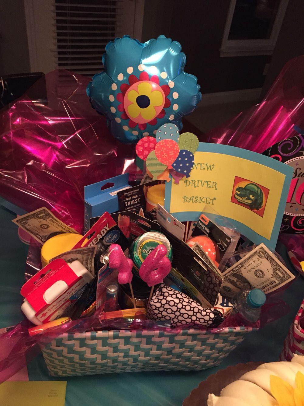 Sweet Sixteen Gift Ideas For Girls  Sweet Sixteen New Driver Basket