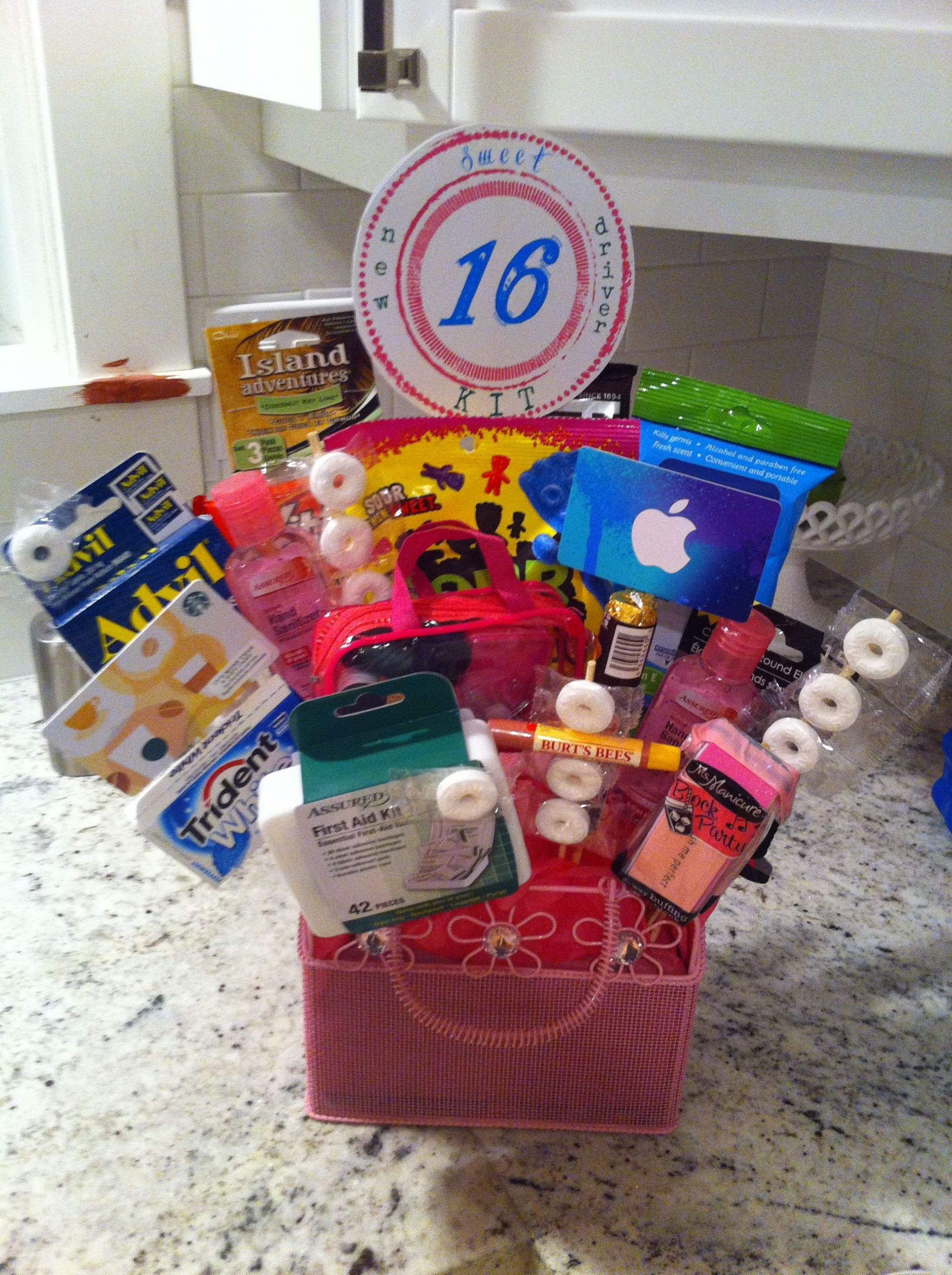 Sweet Sixteen Gift Ideas For Girls  Great way to celebrate sweet 16 New Driver Gift bouquet