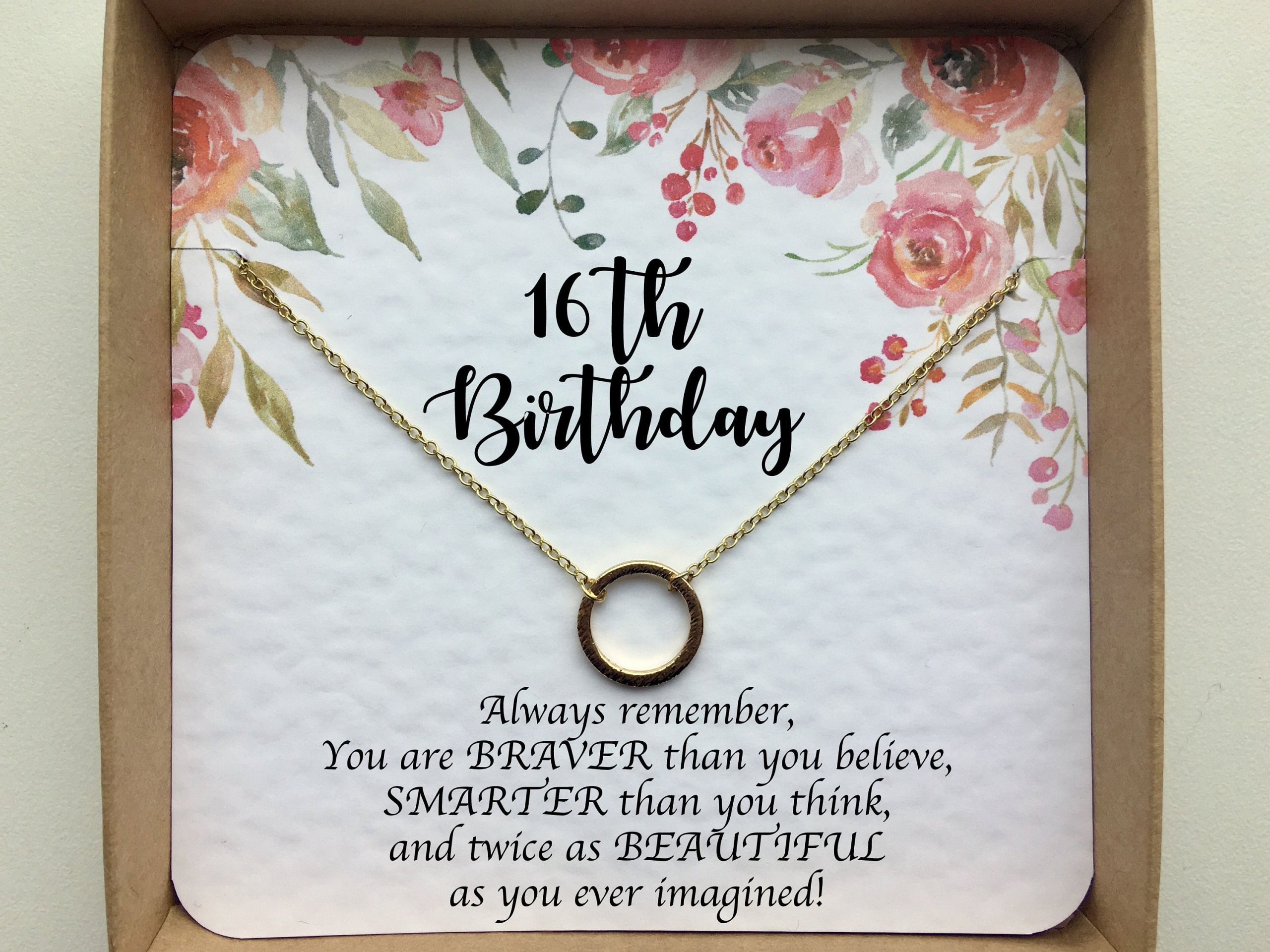 Sweet Sixteen Gift Ideas For Girls  16th birthday t girl Sweet 16 t Sweet 16 necklace