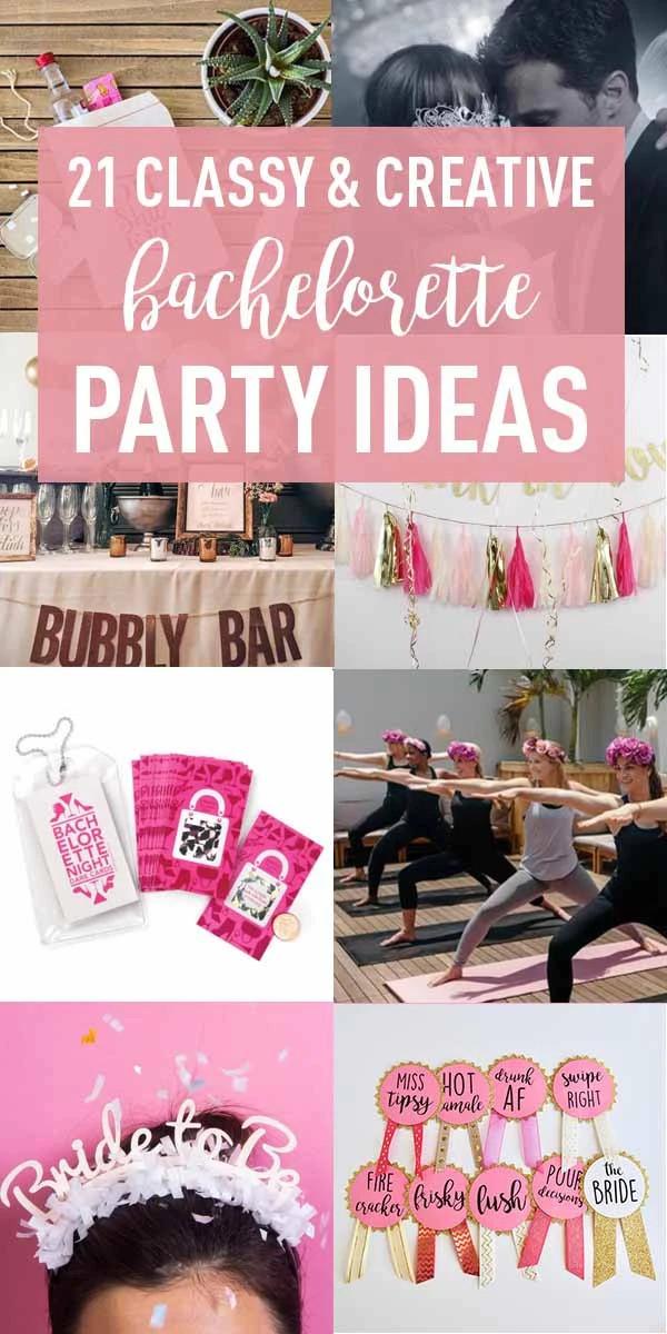 Tasteful Bachelorette Party Ideas  21 Creative Bachelorette Party Ideas the Bride To Be Will