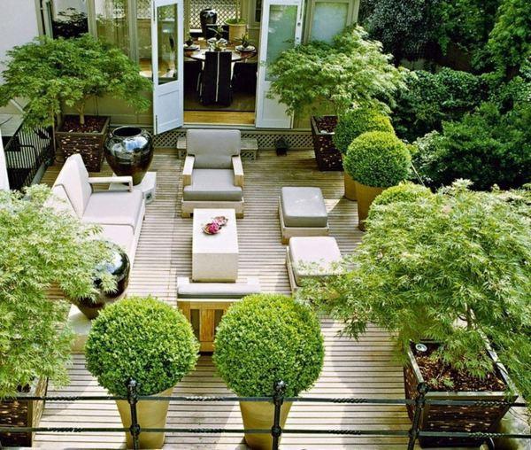 Terrace Landscape Plants  Modern terrace design – 100 images and creative ideas