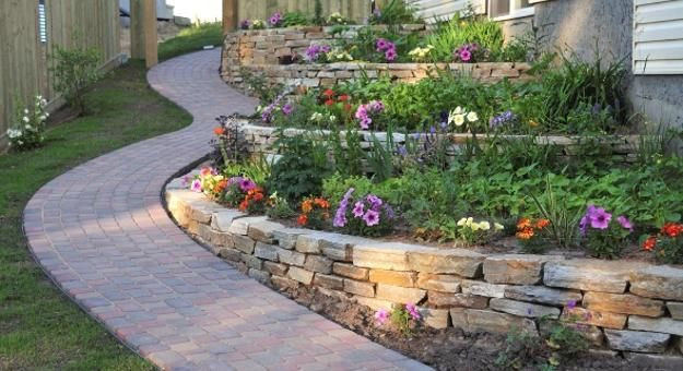 Terrace Landscape Sloped Yard  25 Beautiful Hill Landscaping Ideas and Terracing