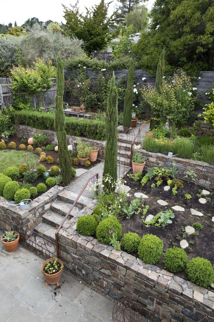 Terrace Landscape Sloped Yard  881 best Landscaping a slope images on Pinterest