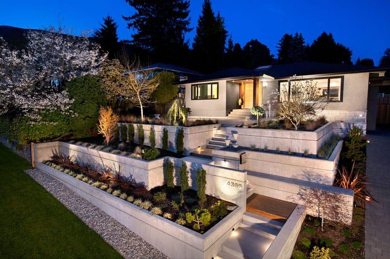 Terrace Landscape Sloped Yard  How To Turn A Steep Backyard Into A Terraced Garden
