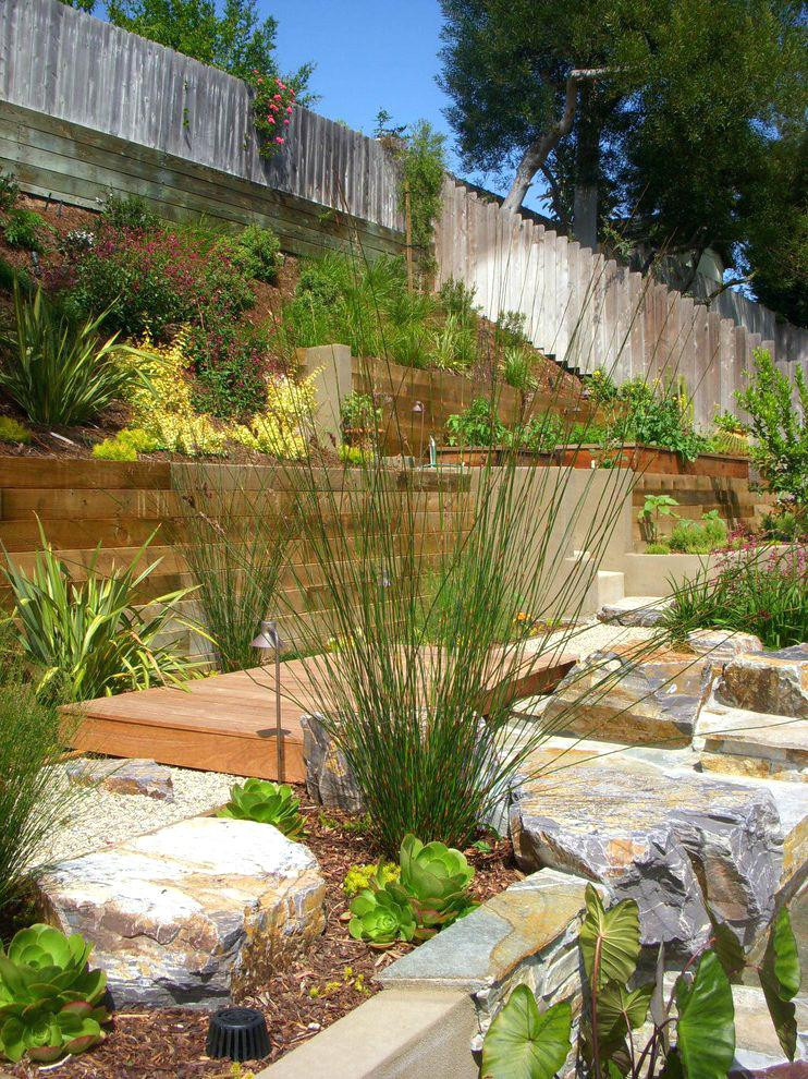 Terrace Landscape Sloped Yard  Steep Terraced Landscape Patio How To Cope With A Sloping