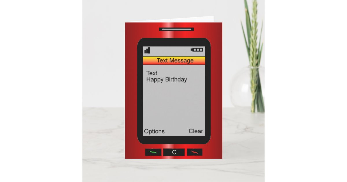 Text Message Birthday Cards  Text Message Happy Birthday Card