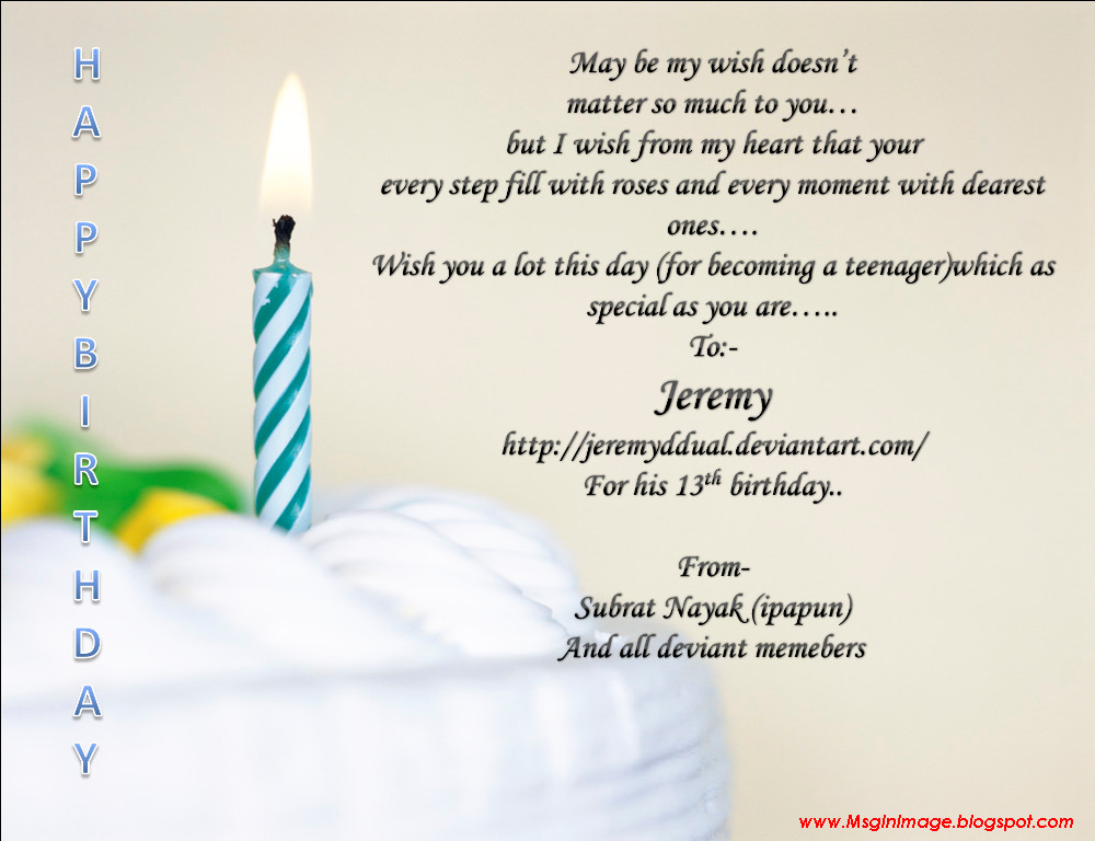Text Message Birthday Cards  of Happy Birthday Quotes Message Message In Image