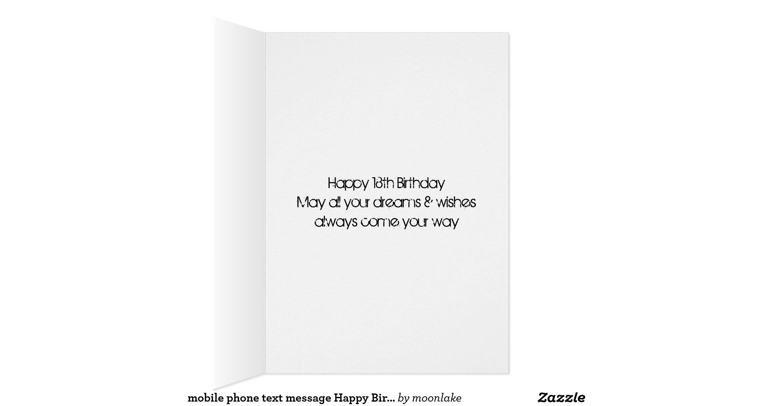 Text Message Birthday Cards  mobile phone text message Happy Birthday cellphone