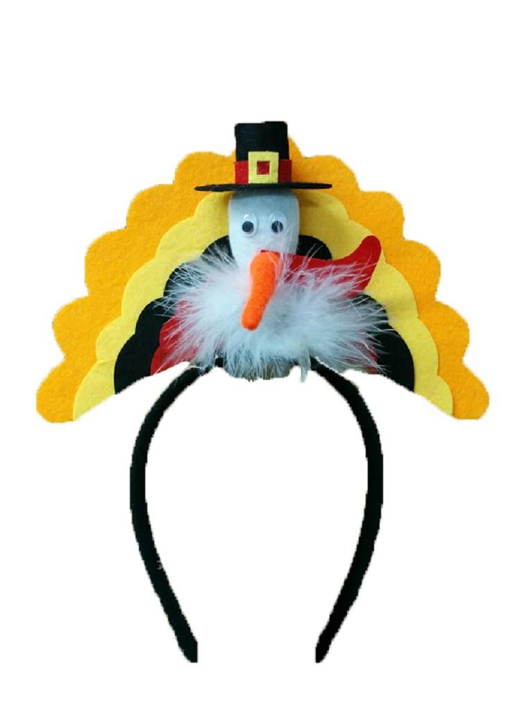 Thanksgiving Turkey Trot  Thanksgiving Pilgrim Turkey Trot Headband Hat Holiday