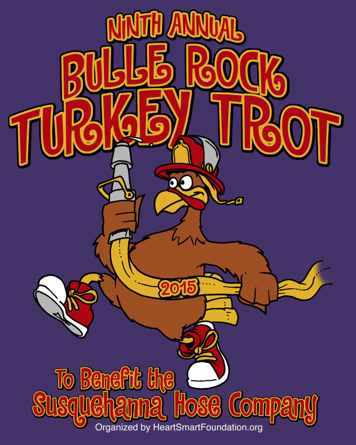 Thanksgiving Turkey Trot  Thanksgiving Day Bulle Rock Turkey Trot to Benefit