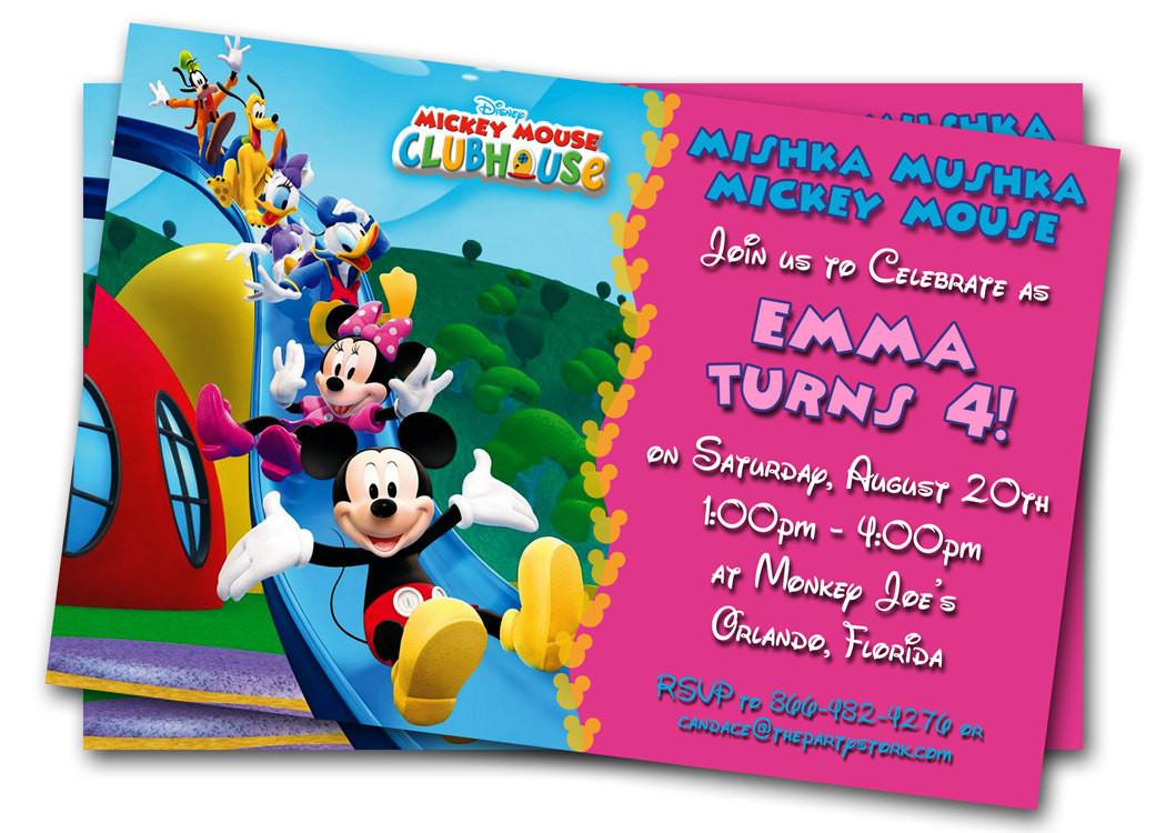 Toddler Birthday Invitations  Minnie Mouse Birthday Invitations Printable Custom Kids