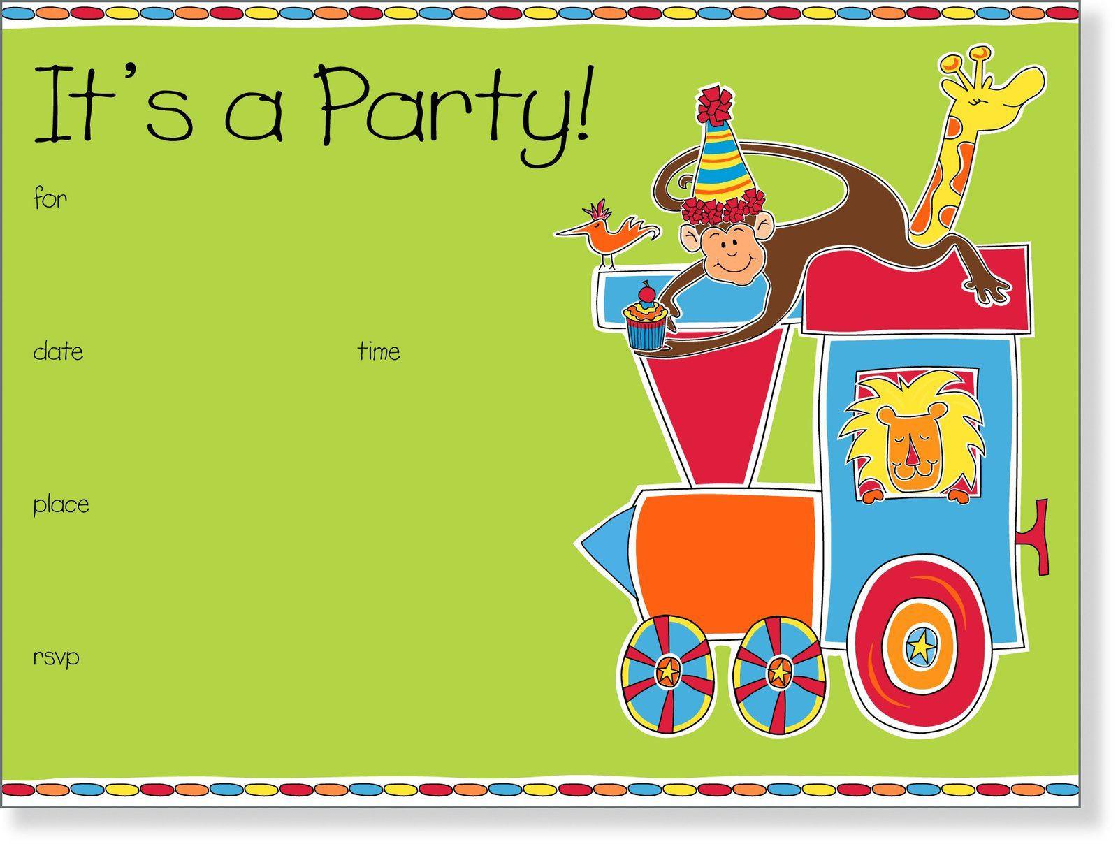 Toddler Birthday Invitations  Kids birthday invite template 21st birthday invitation