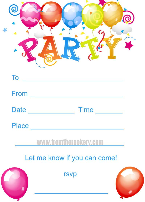 Toddler Birthday Invitations  Kids Birthday Party Invites