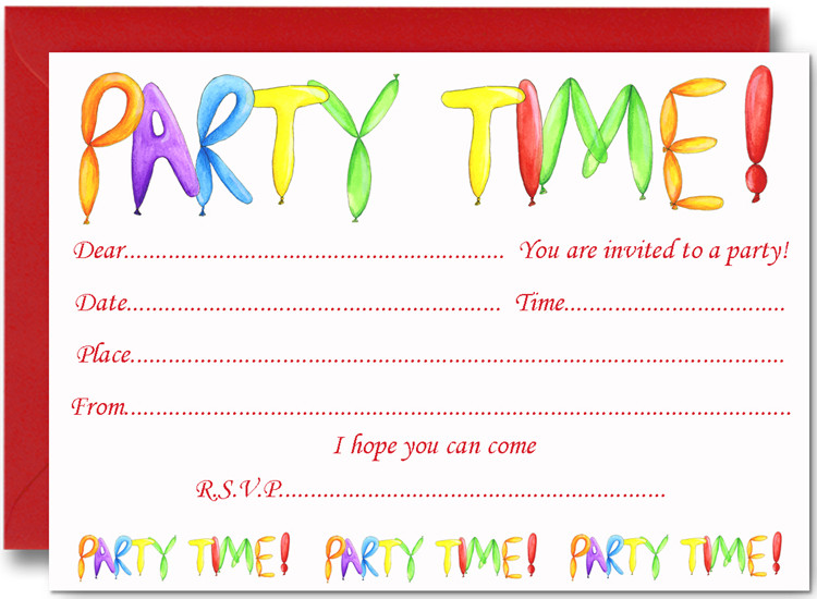 Toddler Birthday Invitations  FREE Birthday Party Invites for Kids – FREE Printable