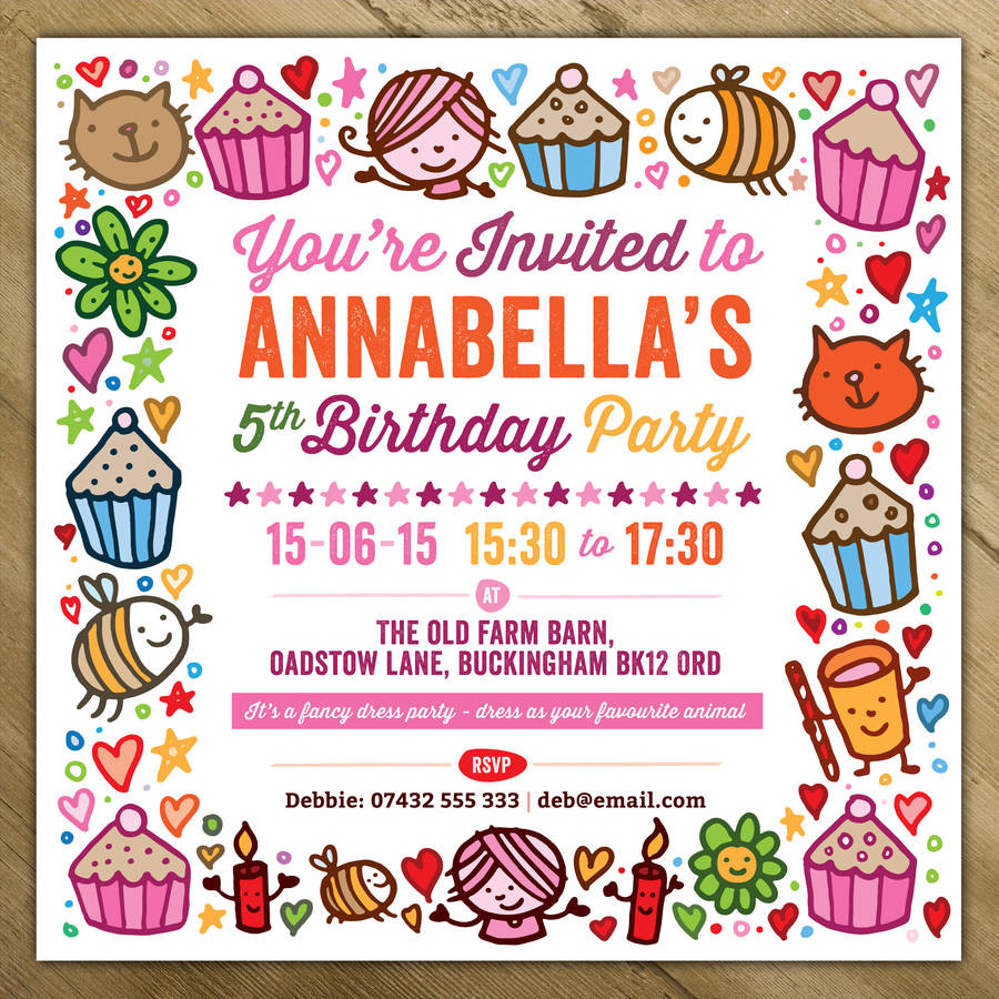 Toddler Birthday Invitations  Childrens Party Invitations By A Is For Alphabet