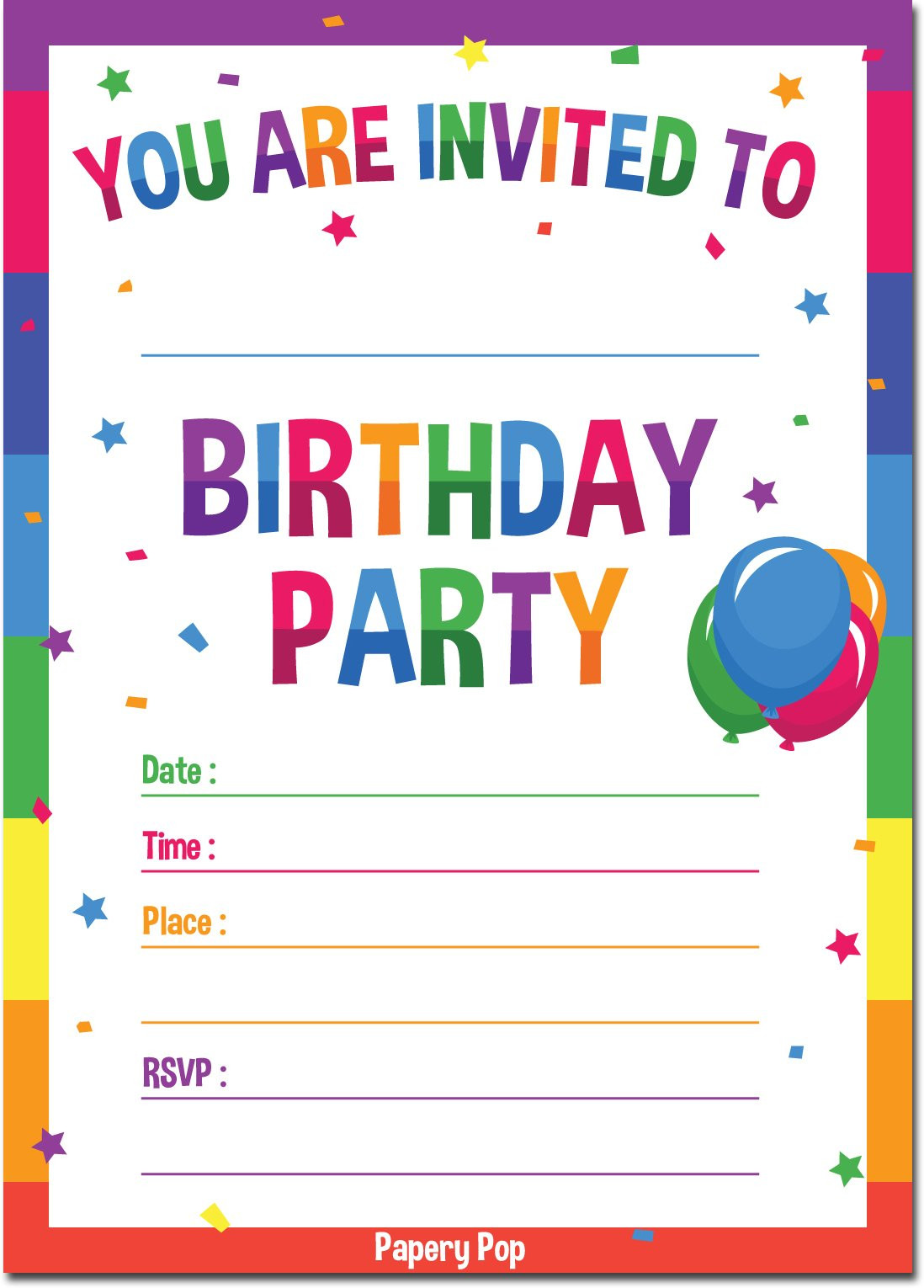 Toddler Birthday Invitations  Galleon Birthday Invitations With Envelopes 15 Count