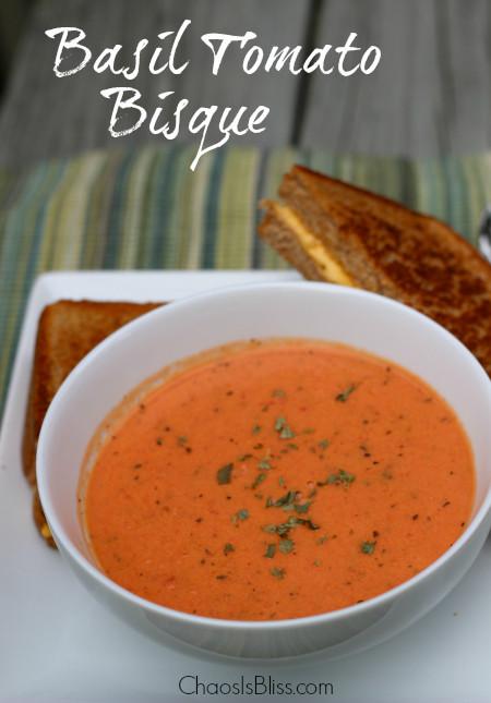 Tomato Bisque Soup Recipes  Basil Tomato Bisque Recipe