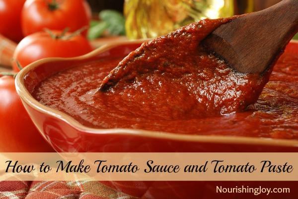 Tomato Paste To Sauce  How to Make Tomato Sauce and Tomato Paste Nourishing Joy
