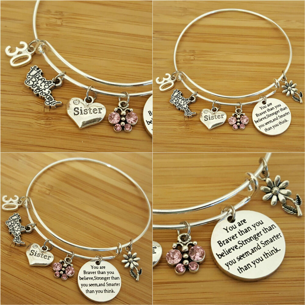 Top Birthday Gifts For Her  Personalised BIRTHDAY Gifts Bracelet 15th 16th 18th 21st