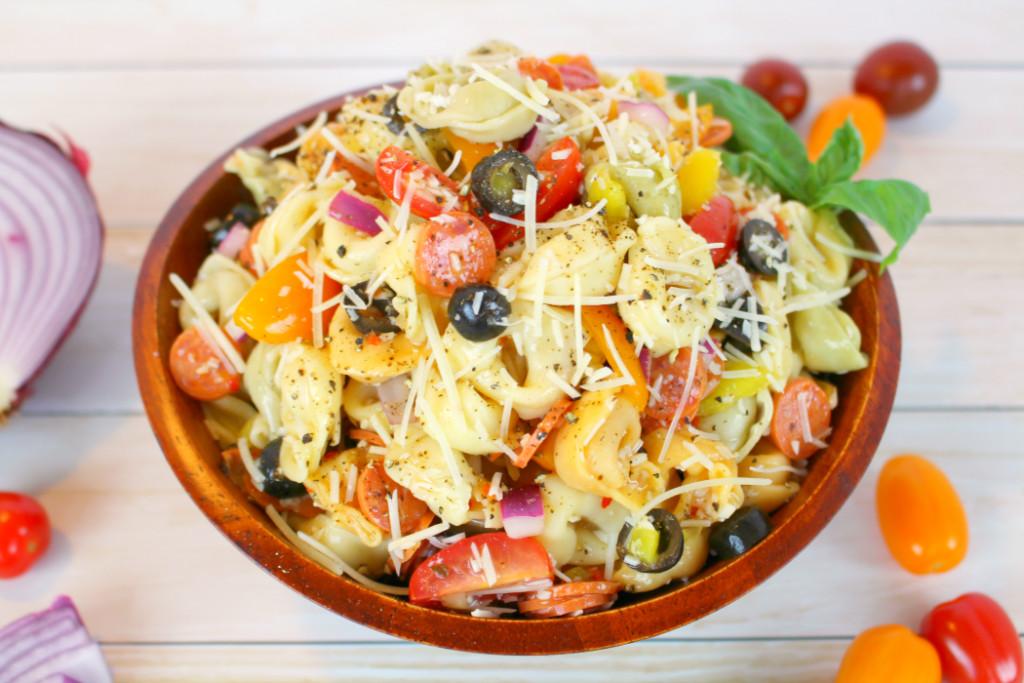 Tortellini Pasta Salad With Italian Dressing  Italian Tortellini Salad Delightful E Made