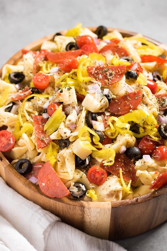 Tortellini Pasta Salad With Italian Dressing  Italian Tortellini Salad The Salty Marshmallow