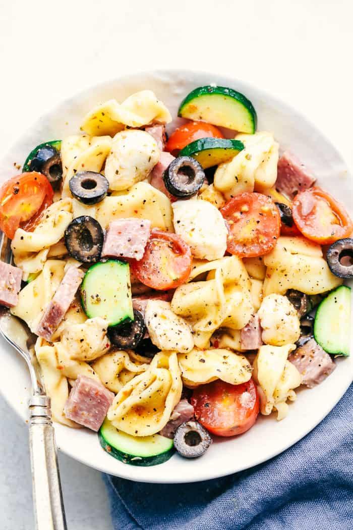 Tortellini Pasta Salad With Italian Dressing  Easy Italian Tortellini Pasta Salad