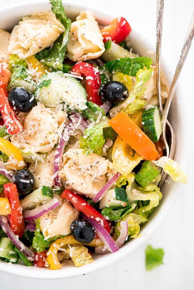 Tortellini Pasta Salad With Italian Dressing  Rainbow Italian Tortellini Pasta Salad Garnish & Glaze