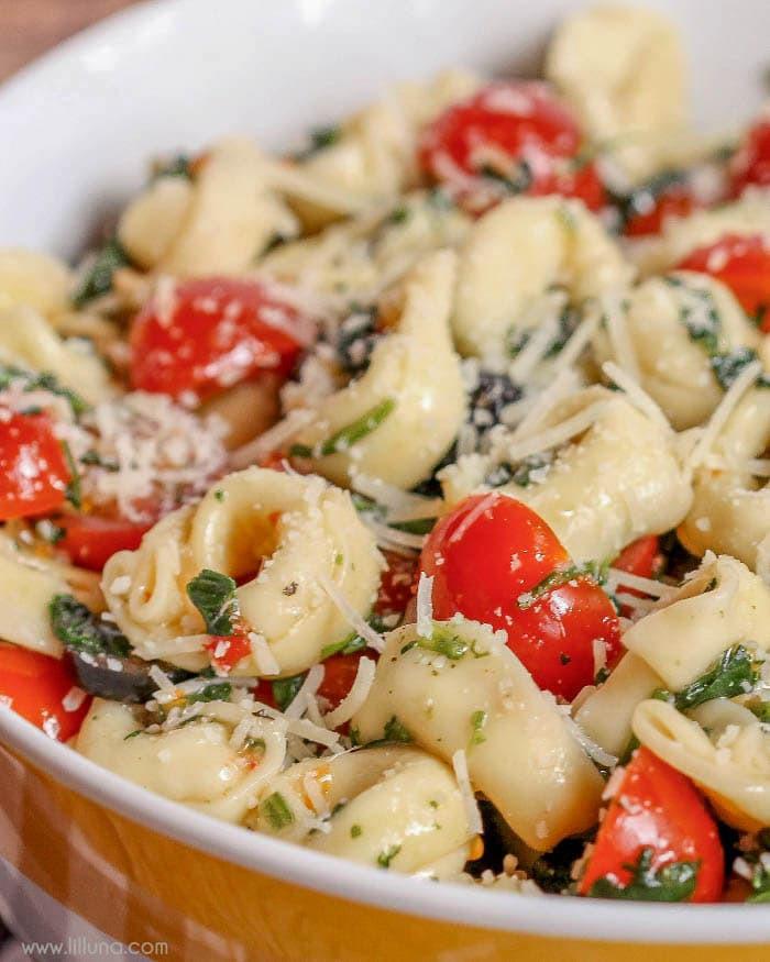 Tortellini Pasta Salad With Italian Dressing  Spinach and Tortellini Salad Lil Luna