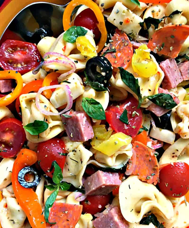 Tortellini Pasta Salad With Italian Dressing  Italian Pasta Salad with tortellini and homemade dressing