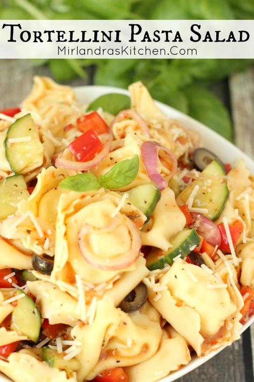 Tortellini Pasta Salad With Italian Dressing  Tortellini Pasta Salad Mirlandra s Kitchen