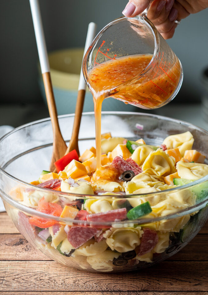 Tortellini Pasta Salad With Italian Dressing  Italian Tortellini Pasta Salad Recipe