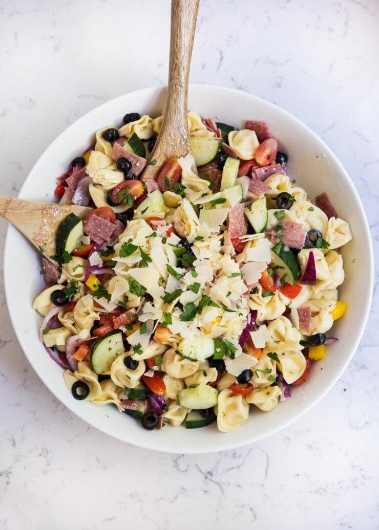 Tortellini Pasta Salad With Italian Dressing  Easy tortellini Italian pasta salad I Heart Nap Time