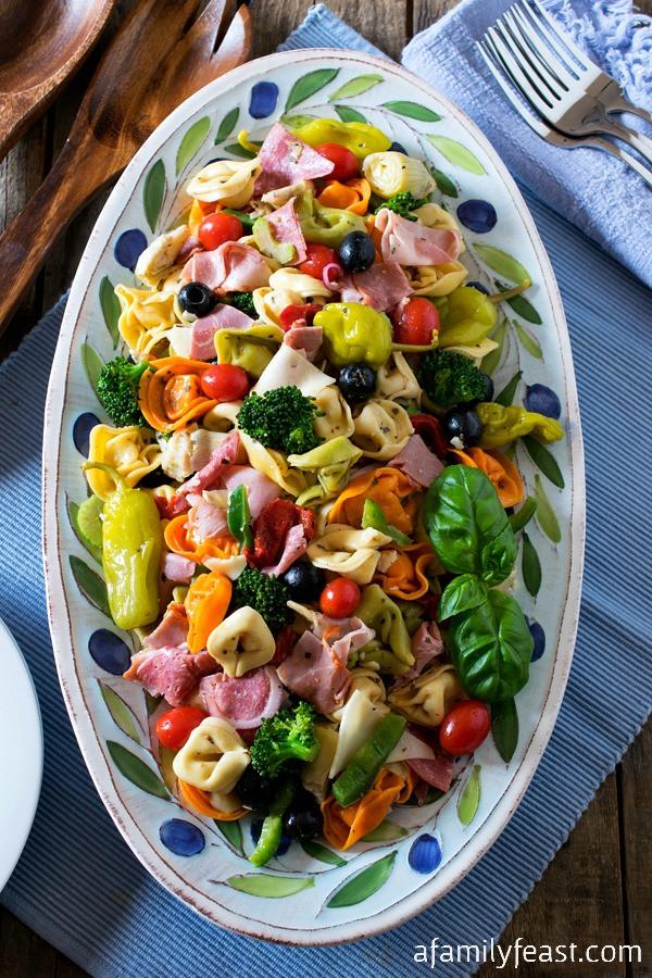 Tortellini Pasta Salad With Italian Dressing  Italian Tortellini Salad A Family Feast