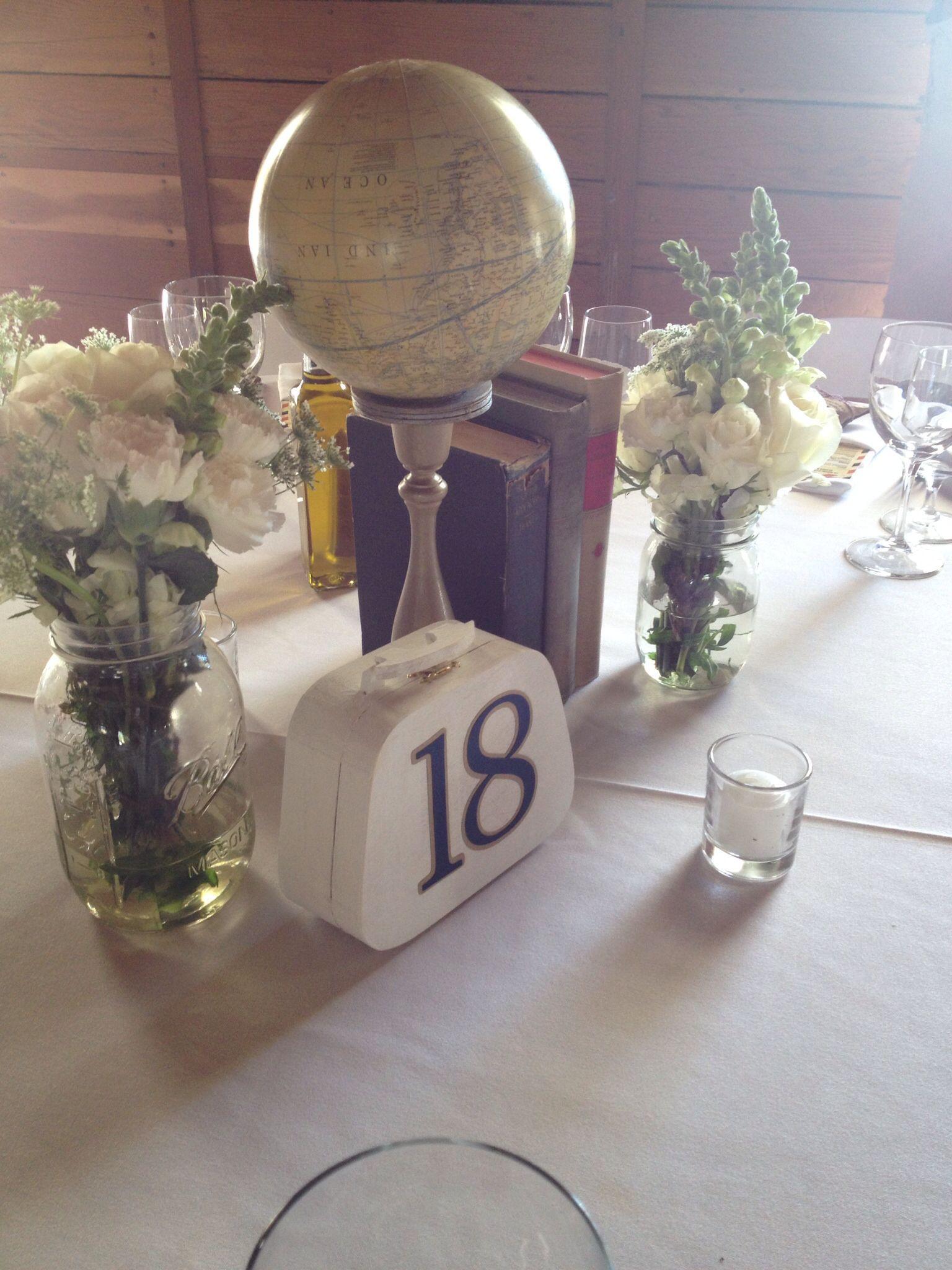 Travel Themed Wedding Centerpieces  Pin by Cm Deyto on wedding stuff