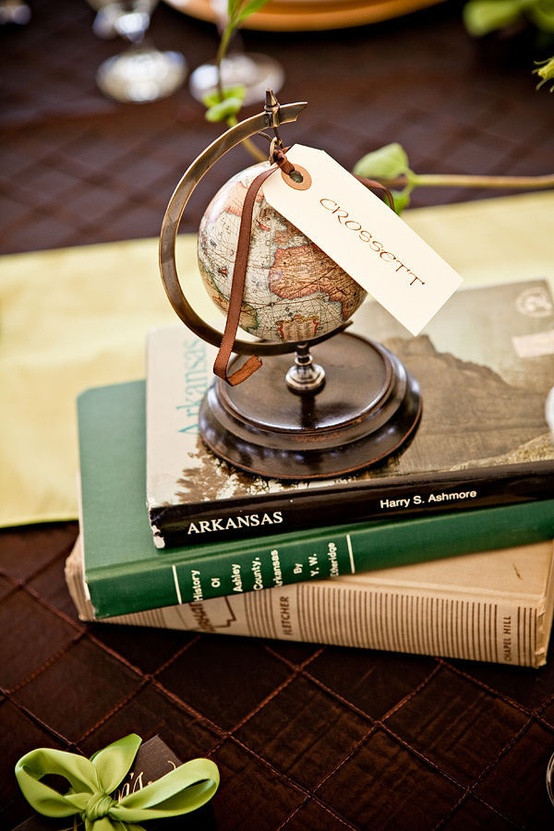 Travel Themed Wedding Centerpieces  Let s Fly Away To her Travel Theme Wedding Ideas