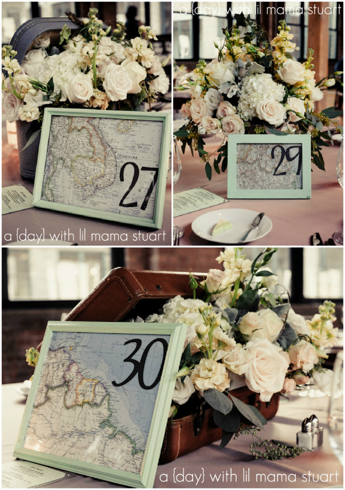 Travel Themed Wedding Centerpieces  a day with lil mama stuart Travel Themed Wedding DIY