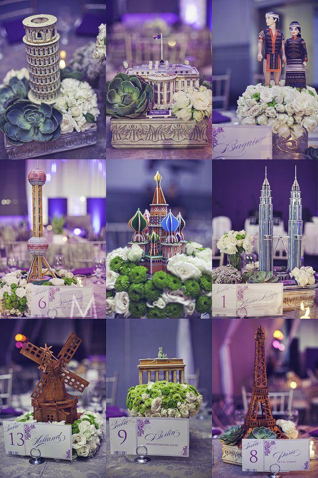 Travel Themed Wedding Centerpieces  centerpieces Travel Theme Pinterest