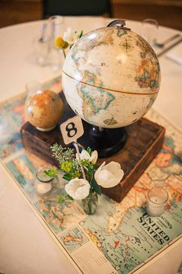 Travel Themed Wedding Centerpieces  20 Awesome Travel Themed Wedding Ideas UK Wedding