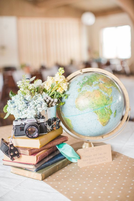Travel Themed Wedding Centerpieces  30 Travel Themed Wedding Ideas You ll Want To Steal